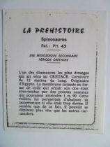 Starlux - Prehistory Notice - Spinosaurus (ref PH43)