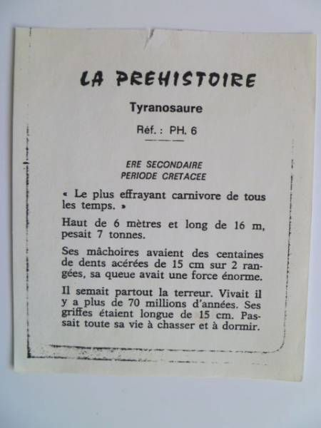 Starlux - Prehistory Notice - Tyranosaurus (ref PH6)