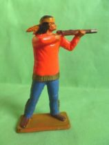 Starlux - Sioux Series Luxe Speciale 65 - Footed Firing rifle standing (orange & blue) (ref 5164)