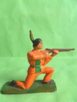 Starlux - Sioux Series Regular 57 - Footed Firing rifle kneeling (orange) (ref 162)