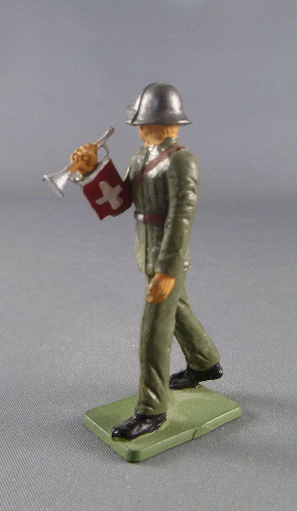 Starlux - Switzerland Army - Footed Marchng Siver Bugle (ref AH104)