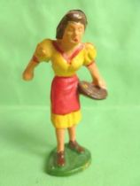 Starlux - the farm - farmer woman giving seeds (series 53/54 ref 503)