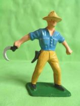 Starlux - the farm - Harvester (blue & ochre) (series 59 ref 501)