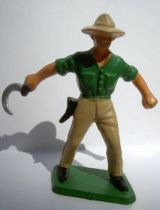 Starlux - the farm - harvester (green & cream) (series 59 ref 501)