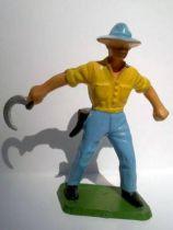Starlux - the farm - harvester (yellow & bleu) (series 59 ref 501)