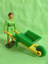 Starlux - The Farm - Wheelbarrow with female driver (series 59 ref 605)
