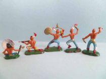 Starlux 20mm (1/87°) - Wild West Indians -Set of five figures