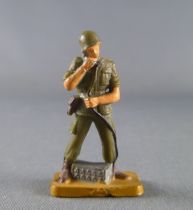 Starlux 30mm (1/55°) - Army - Modern army - Fighting phoning (ref M2 sand base)