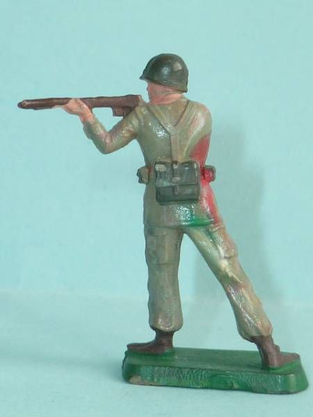 Starlux 35mm (1/50°) - Army - Commando standing firing rifle (ref 1323)
