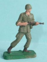 Starlux 35mm (1/50°) - Army - Modern army - Fighting walking rifle in hands (ref M13)