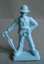 Starlux 35mm (1/50°) - Circus / Zoo - Clown (unpainted) (ref MC 2) scaled for Solido Verem
