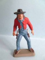 Starlux 35mm (1/50�) - Wild West Cow-Boys- Drawning 2 guns (ref MCB 5127)