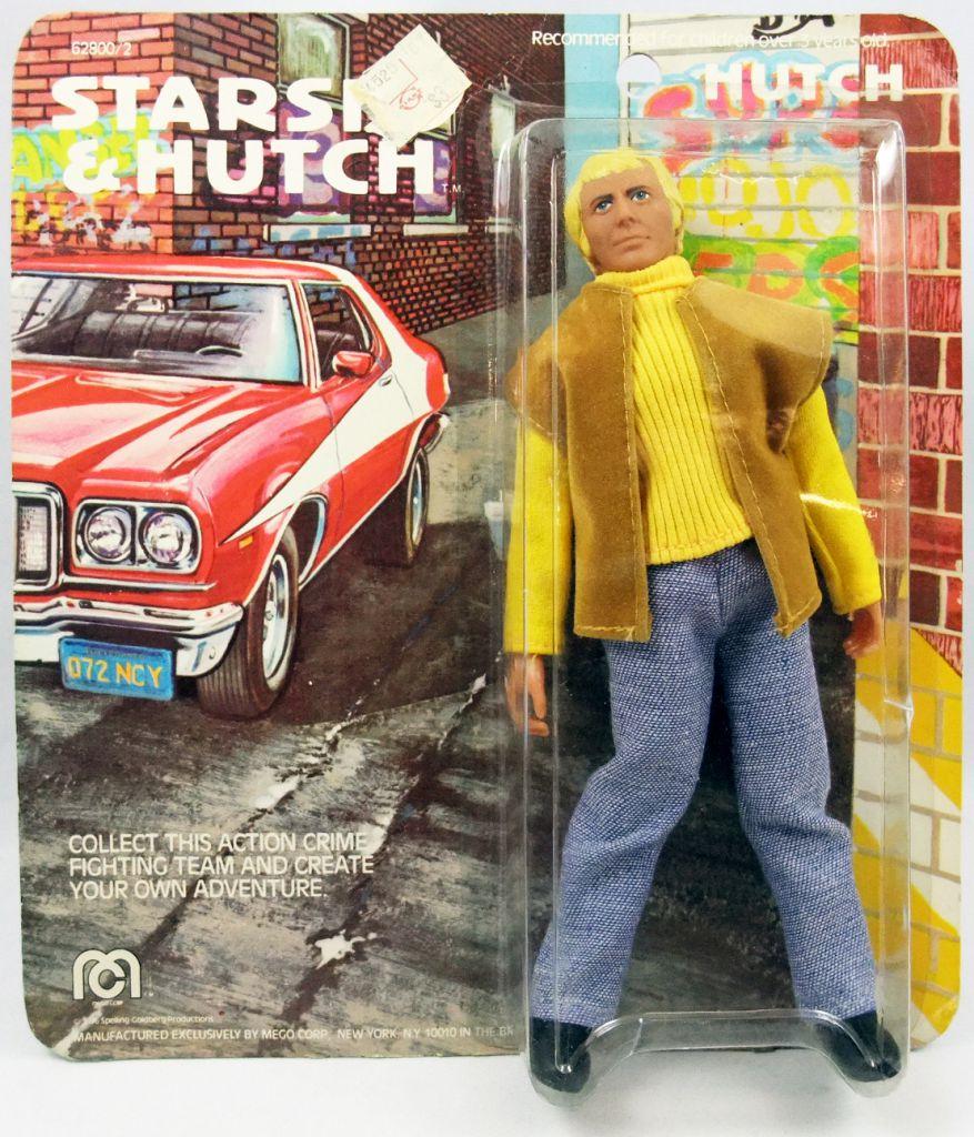 """Starsky & Hutch - 8\"""" Mego figures set : Starsky, Hutch, Huggy Bear (mint on card)"""