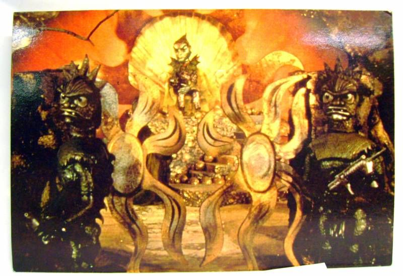 Stingray - Bloomsberry Books Postal Card - Lord Titan in his throne room