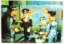 Stingray - Bloomsberry Books Postal Card - Troy & Sam conduct a briefing in the operation room