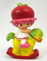 Strawberry shortcake - Miniatures - Cherry Cuddler on rocking horse (loose)