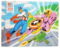 Super-Heroes Series - MB Jigsaw Puzzle 200p - #6 Captain America