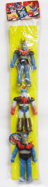 Super Robot Set : Mazinger Z - Great Mazinger - Grendizer - 5\'\' Vinyl figures set - Popy