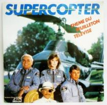 Supercopter (Airwolf) - Disque 45T - Bande Originale du Feuilleton TV - CBS Records 1984