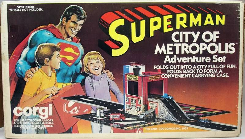 Superman - Corgi Juniors ref. 3040 - City of Metropolis Adventure set