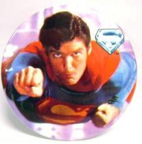 Superman (movie) - 1978 vintage botton - Superman flies!
