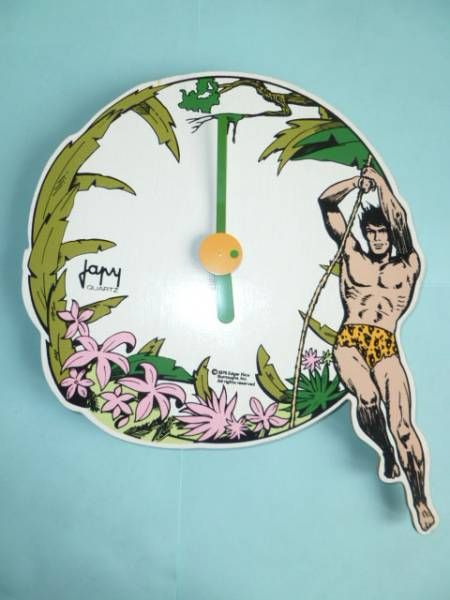 Tarzan - Japy Wood Wall Clock (quartz system)