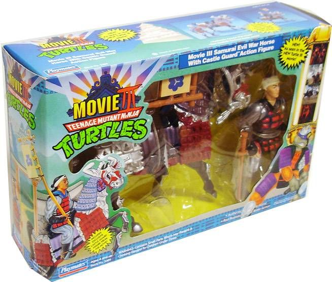 Teenage Mutant Ninja Turtles - 1992 - Movie III Samurai Evil War Horse with Castle Guard