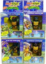 Teenage Mutant Ninja Turtles - 1993 - Ninja Action Turtles - Set of 4 Turtles : Leo, Raph, Mike, Don
