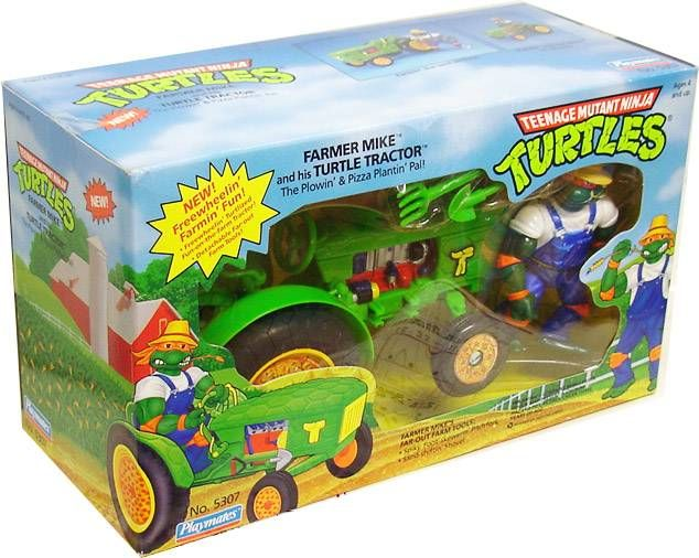 Teenage Mutant Ninja Turtles - 1993 - Turtle Tractor with Farmer Mike