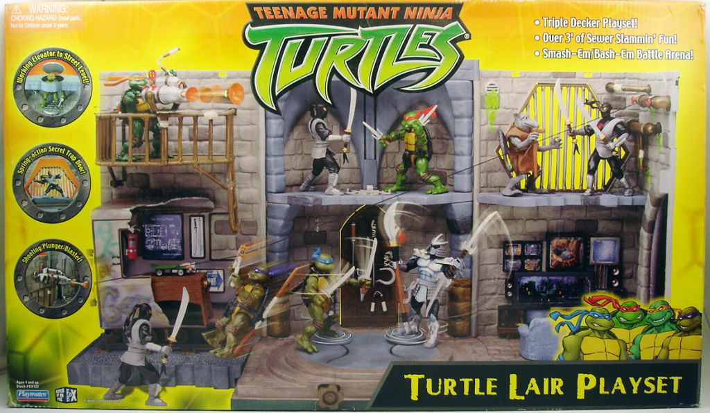 Teenage Mutant Ninja Turtles 2003 Toys : Teenage mutant ninja turtles turtle lair playset