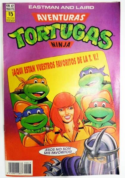 Teenage Mutant Ninja Turtles - Comic Book Ediciones Zinco - Aventuras Tortugas Ninja #47