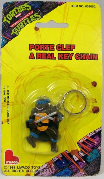 Teenage Mutant Ninja Turtles - Keychain - Leonardo - Liwaco 1991