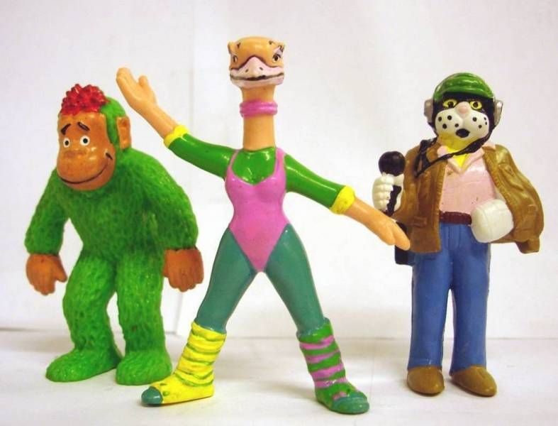 Téléchat - Set of 3 PVC figures