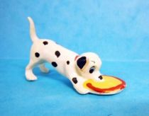 The 101 dalmatians - Jim figure - Baby with head in its mess tin (red collar)