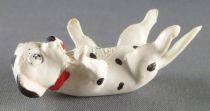 The 101 dalmatians - Jim figure - Puppy laying on his back (red collar)