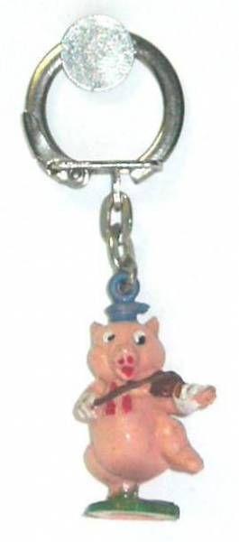 The 3 Little Pigs - Jim key chain figures - Pig violonist