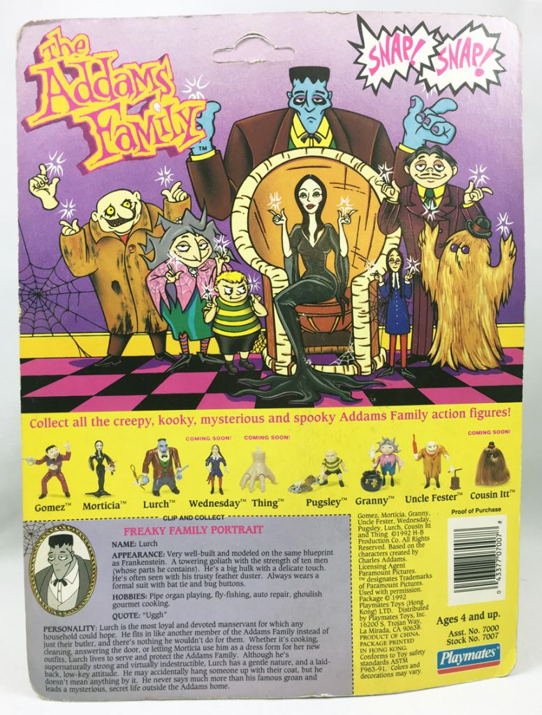The Animated Addams Family - Lurch - Playmates figure