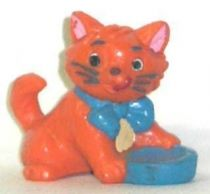 The Aristocats - Bully PVC figure - Toulouse (blue bowl)