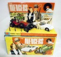 The Avengers - Corgi Gift Set n°40 - John Steed\'s Vintage Bentley & Emma Peel\'s Lotus Elan S2
