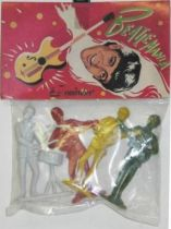 The Beatles - Emirober - Set of 4 figures Mint in Paul Mc Cartney Baggie