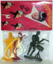The Beatles - Emirober - Set of 4 figures Mint in Ringo Starr Baggie