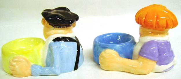 The Bidochon - Tropico Diffusion 1997 - Robert & Raymonde Ceramic Egg Cups