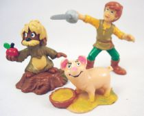 The Black Cauldron - Set of 3 Bully pvc figures : Taran, Gurgi, Hen-Wen