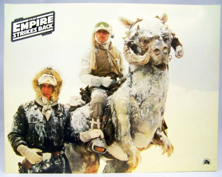 The Empire Strikes Back - Lobby Card - Han Solo et Luke Skywalker sur Tauntaun