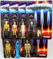 The Fifth Element - ReAction - Set of 7 figures: Korben Dallas, Leeloo (x2), Ruby Rhod, Diva Plavalaguna, Zorg & Mangalore