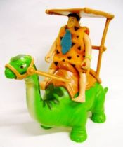 The Flintstones - Mattel - Fred Flintstone (John Goodman) on Diplodocus - Bendable Figure 1994