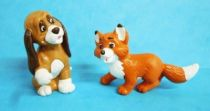 The Fox and the Hound - Bully pvc figure - Copper the dog & Tod the fox