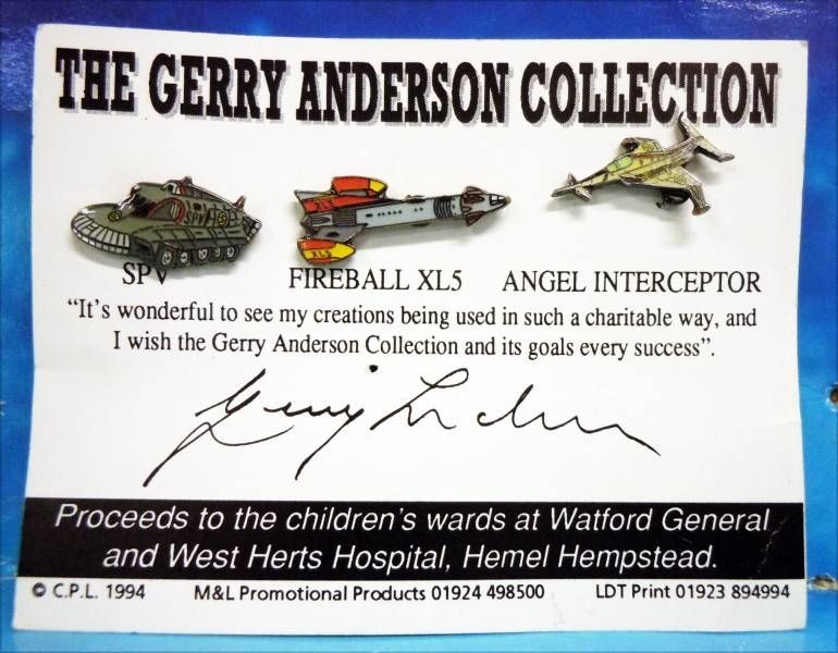 The Gerry Anderson Collection - Pins - SPV + Angel Interceptor (Captain Scarlet) + Fireball XL5