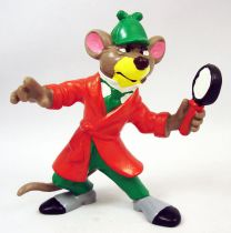 The Great Mouse Detective - Bully pvc figure - Basil with magnifying glass