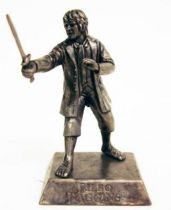 The Hobbit : An Unexpected Journey - Mini Figure - Bilbo Baggins in battle (silver)